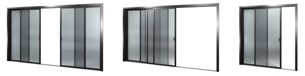forcefield sliding door options